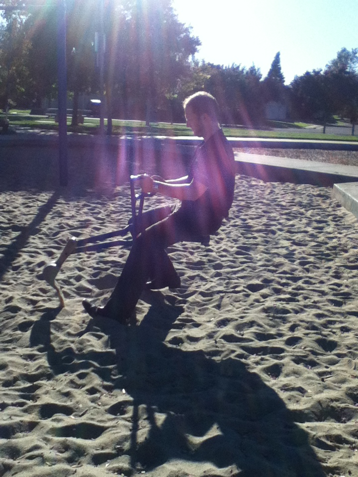Having too much fun at the park...